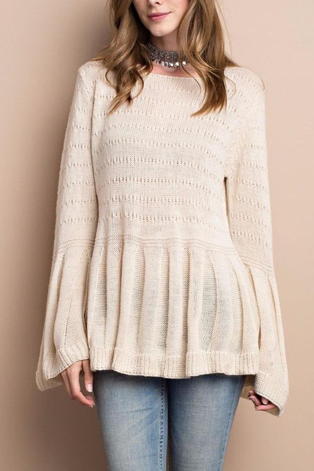 People Outfitter Keep Bell Sweater - Back Cropped Image