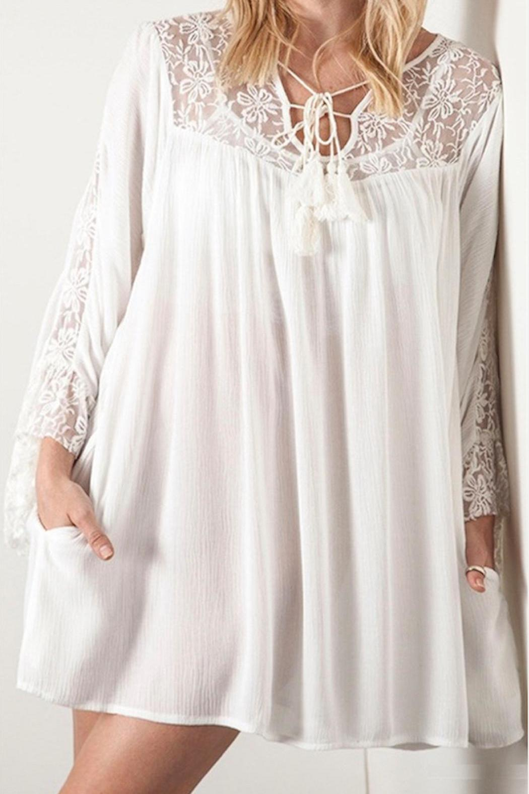 People Outfitter Kimmi Lace Dress - Front Full Image