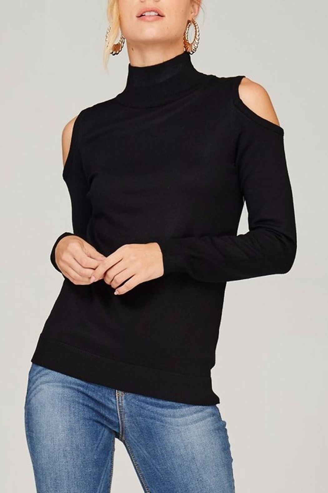 People Outfitter Knit Mock Neck Sweater - Main Image