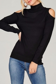 People Outfitter Knit Mock Neck Sweater - Back cropped