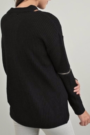 People Outfitter Knit Zipper Sweater - Front full body