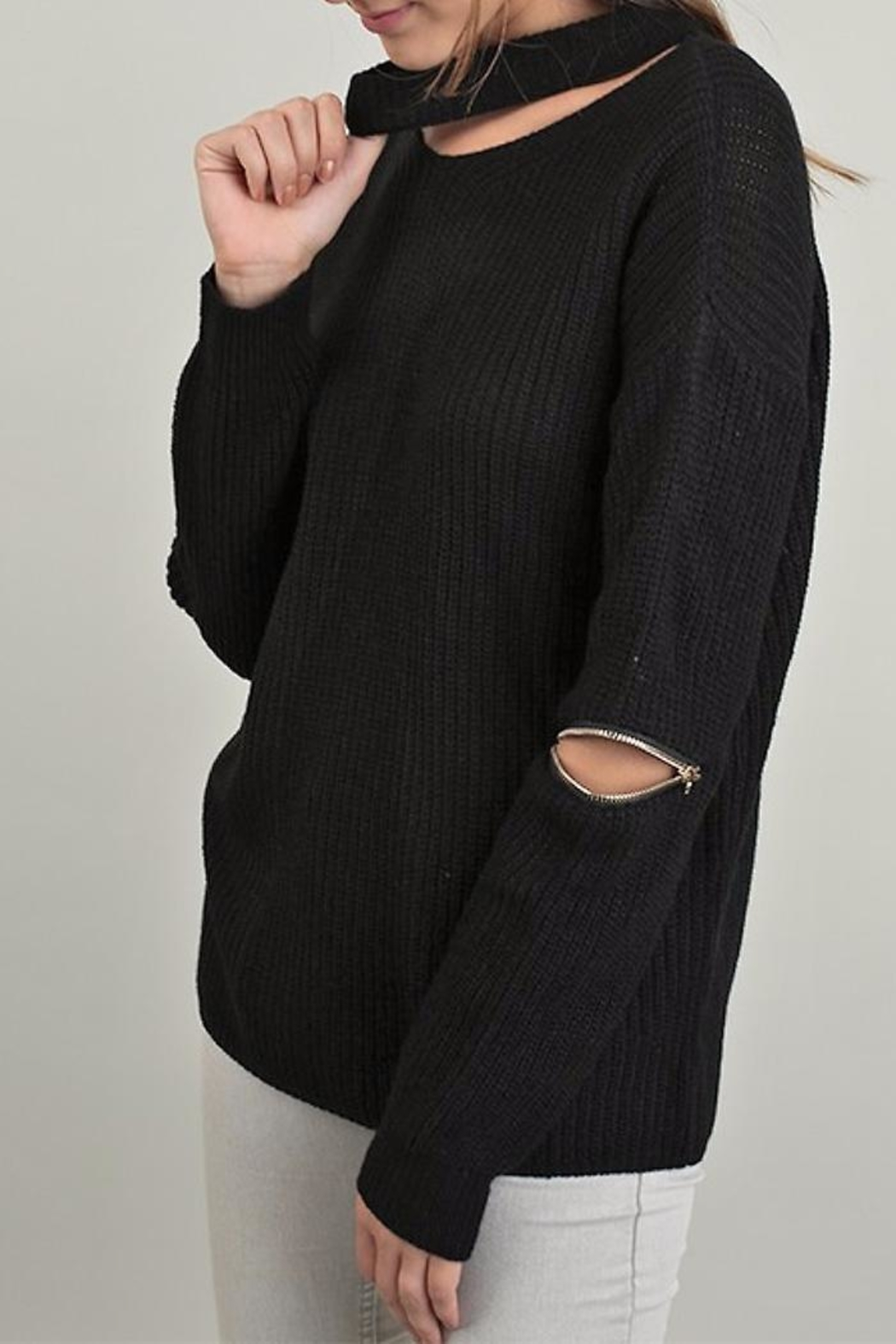 People Outfitter Knit Zipper Sweater - Main Image