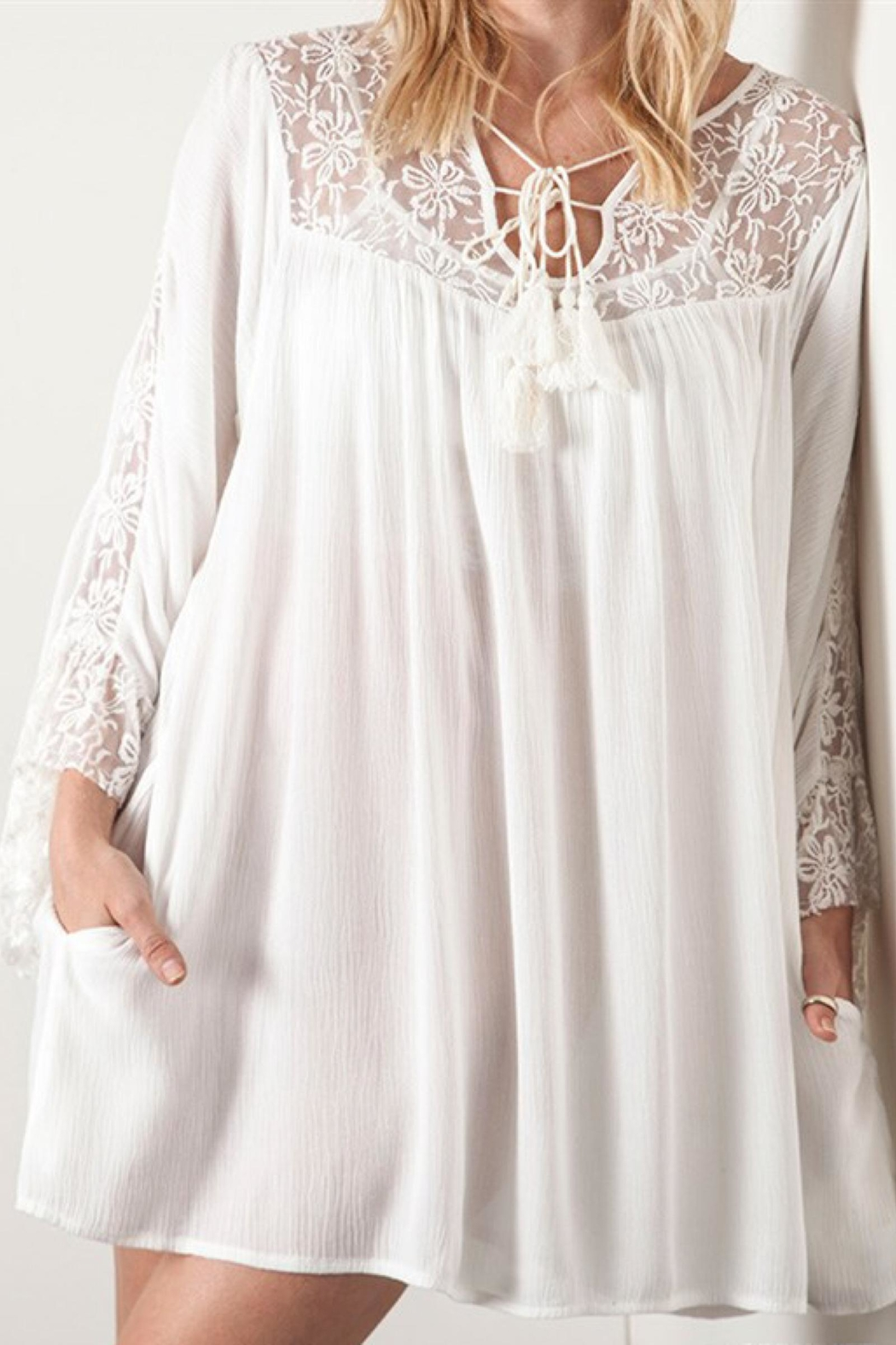 People Outfitter Lace Babydoll Dress - Front Full Image
