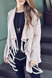 People Outfitter Lace Fringe Cardigan - Product Mini Image
