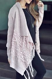 People Outfitter Lace Fringe Cardigan - Front full body