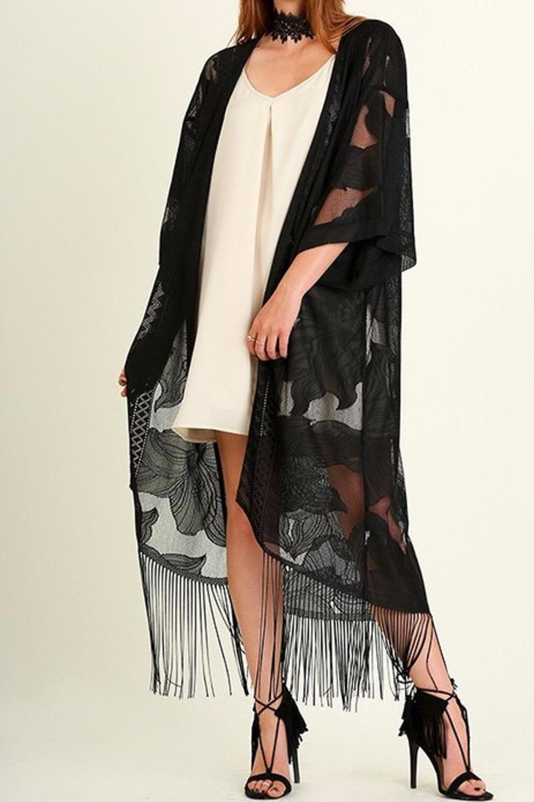 People Outfitter Lace Kimono Duster - Back Cropped Image