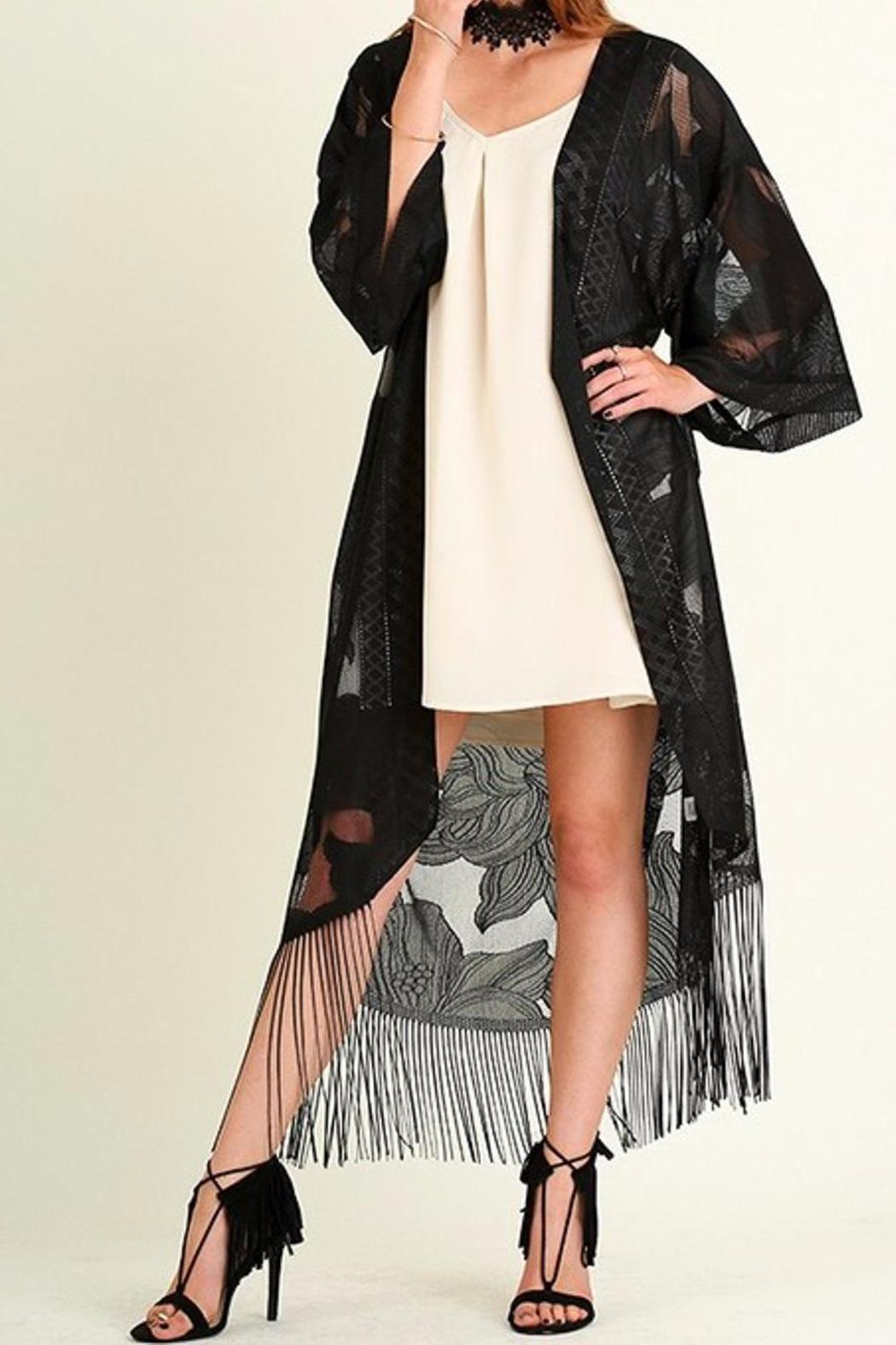 People Outfitter Lace Kimono Duster - Front Cropped Image