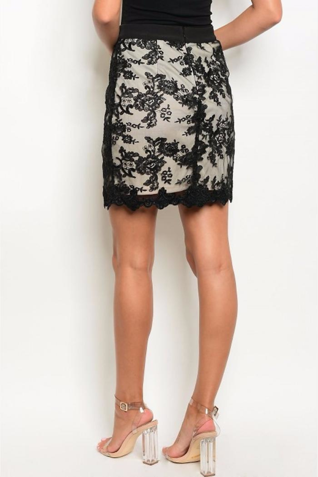 People Outfitter Lace'n Me Skirt - Front Full Image