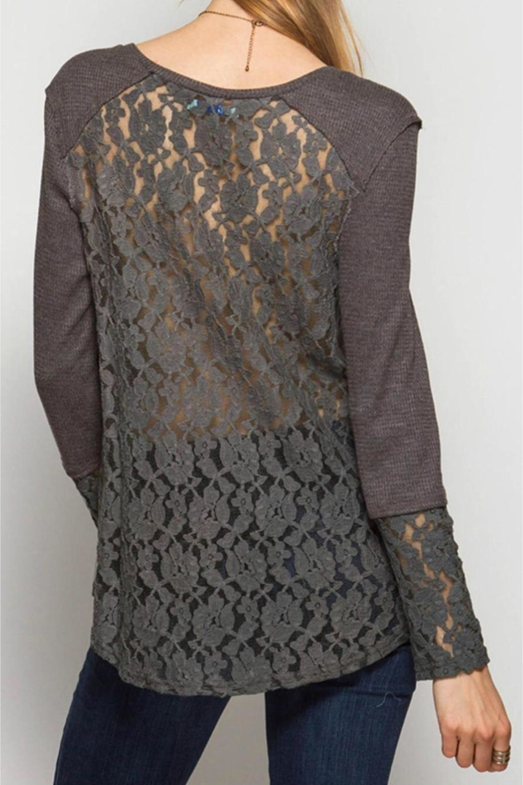 People Outfitter Lace Thermal Top - Front Full Image