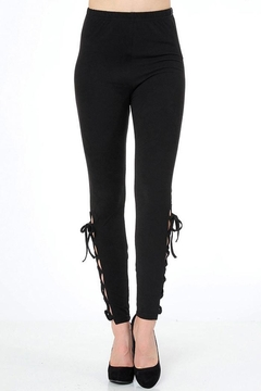 Shoptiques Product: Lace-Up Side Leggings