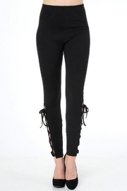 People Outfitter Lace-Up Side Leggings - Product Mini Image