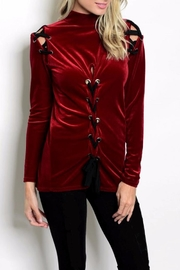 People Outfitter Porto Velvet Top - Front cropped