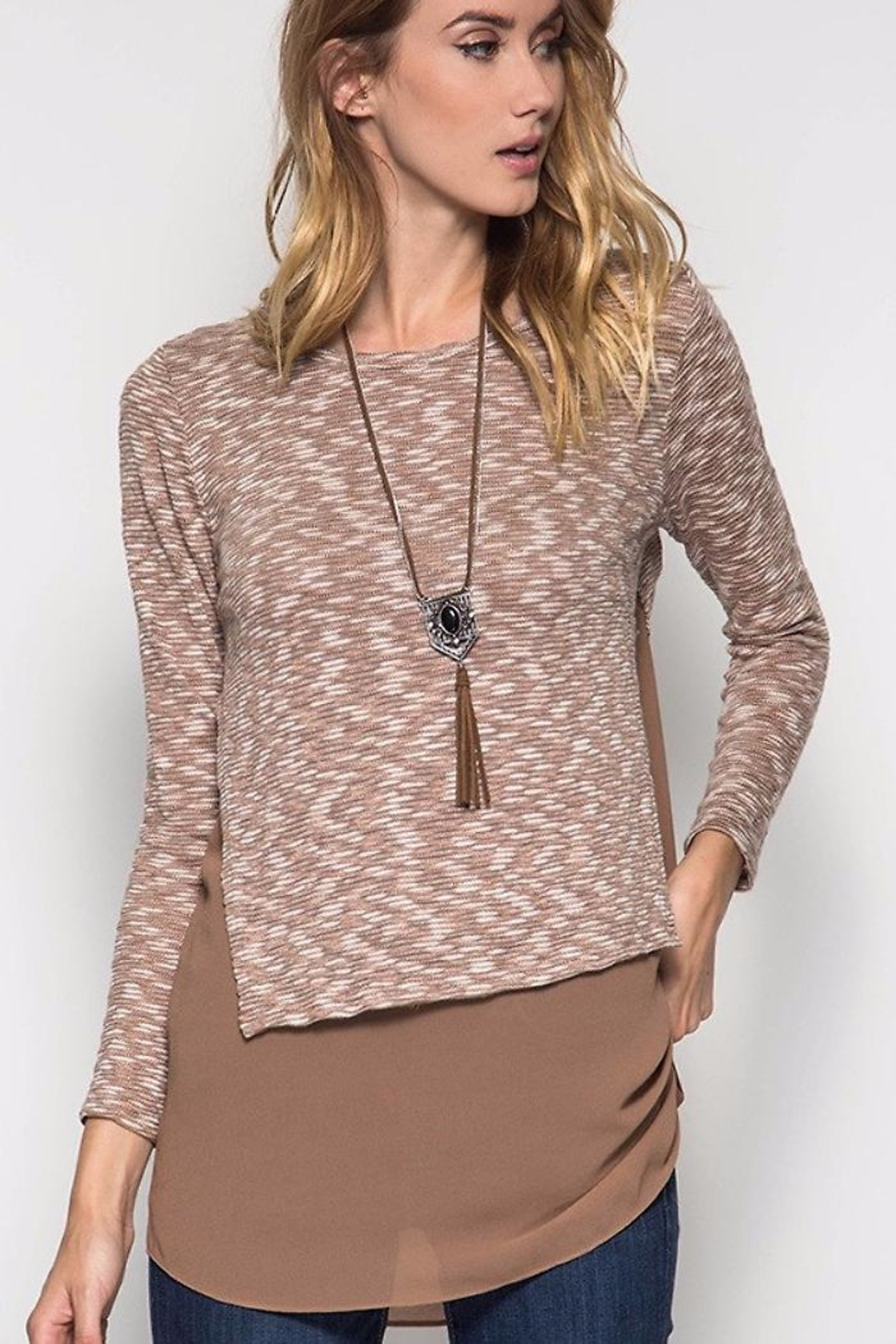 People Outfitter Lily's Knit Tunic - Main Image