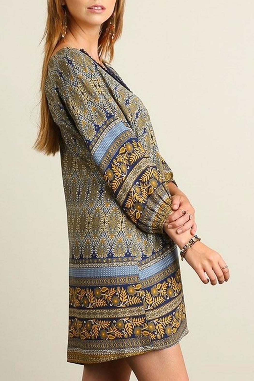 People Outfitter Livia Print Dress - Side Cropped Image