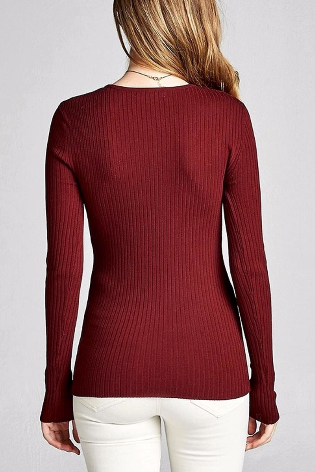 People Outfitter Looking Back Sweater - Front Full Image