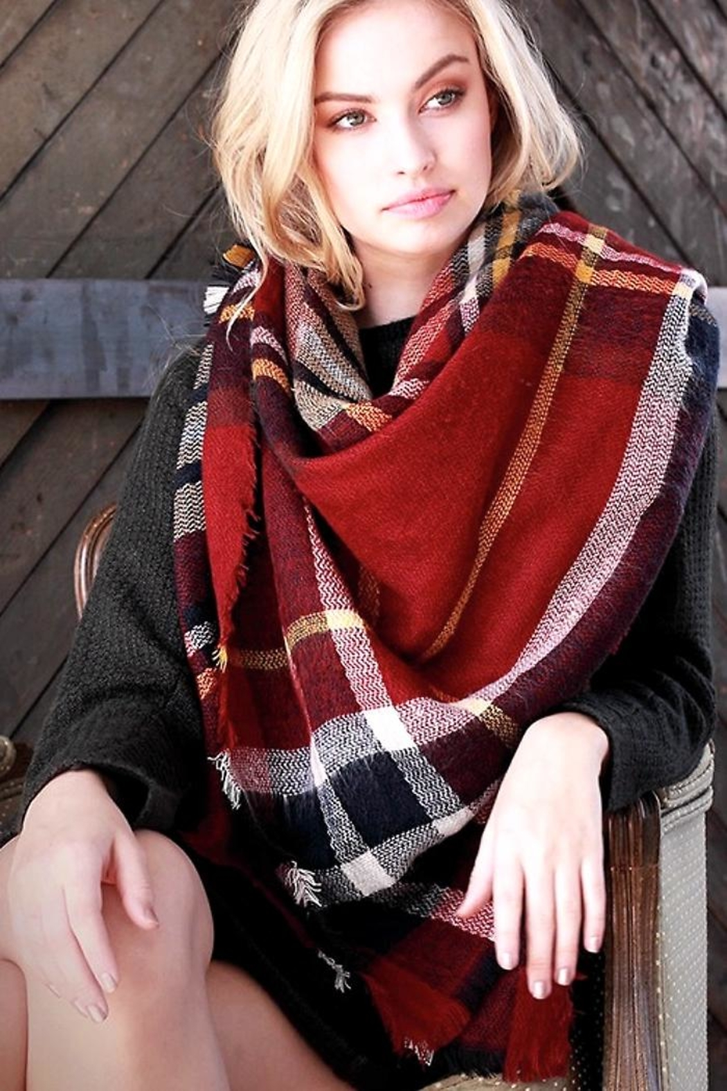People Outfitter Love Blanket Scarf - Main Image