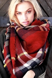 People Outfitter Love Blanket Scarf - Front full body