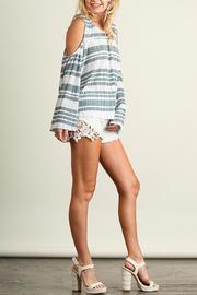 People Outfitter Love Cold Shoulders Top - Front full body