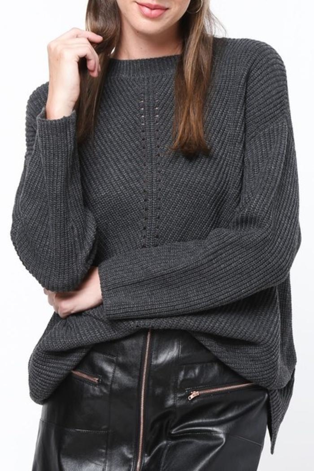 People Outfitter Lure-Me In Sweater - Front Full Image