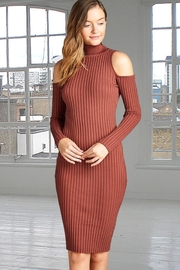 People Outfitter Mauve Turtleneck Sweater Dress - Product Mini Image