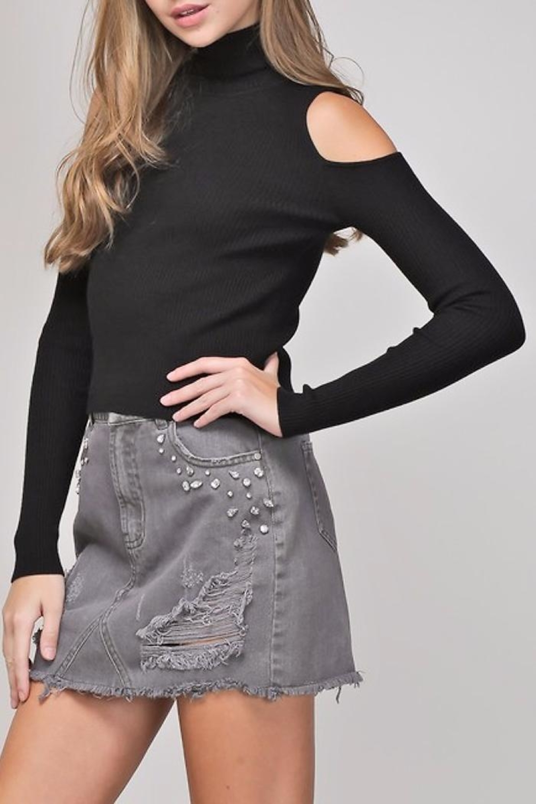 People Outfitter Mia Knit Top - Side Cropped Image