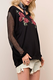 People Outfitter Mesh Hoodie - Back cropped