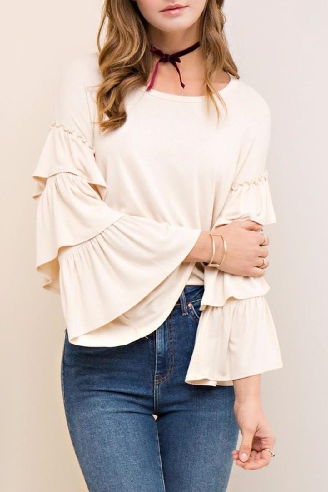 People Outfitter Mystic Ruffle Sleeves - Front Cropped Image