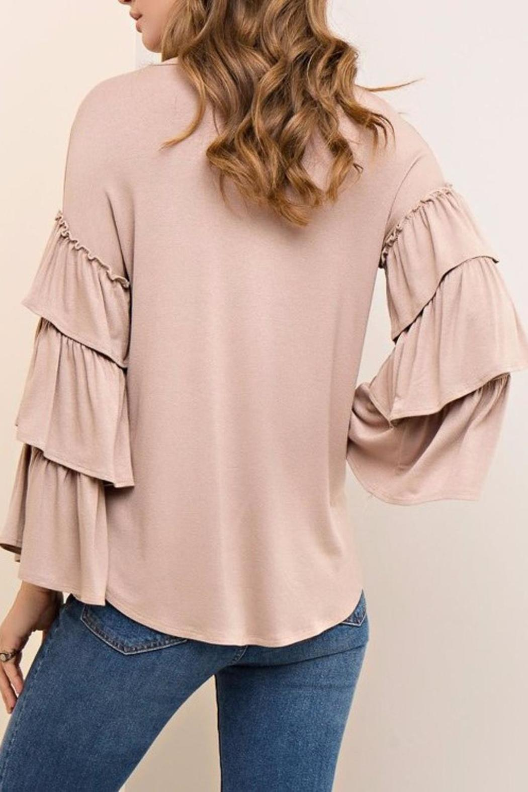 People Outfitter Mystic Ruffle Sleeves - Side Cropped Image