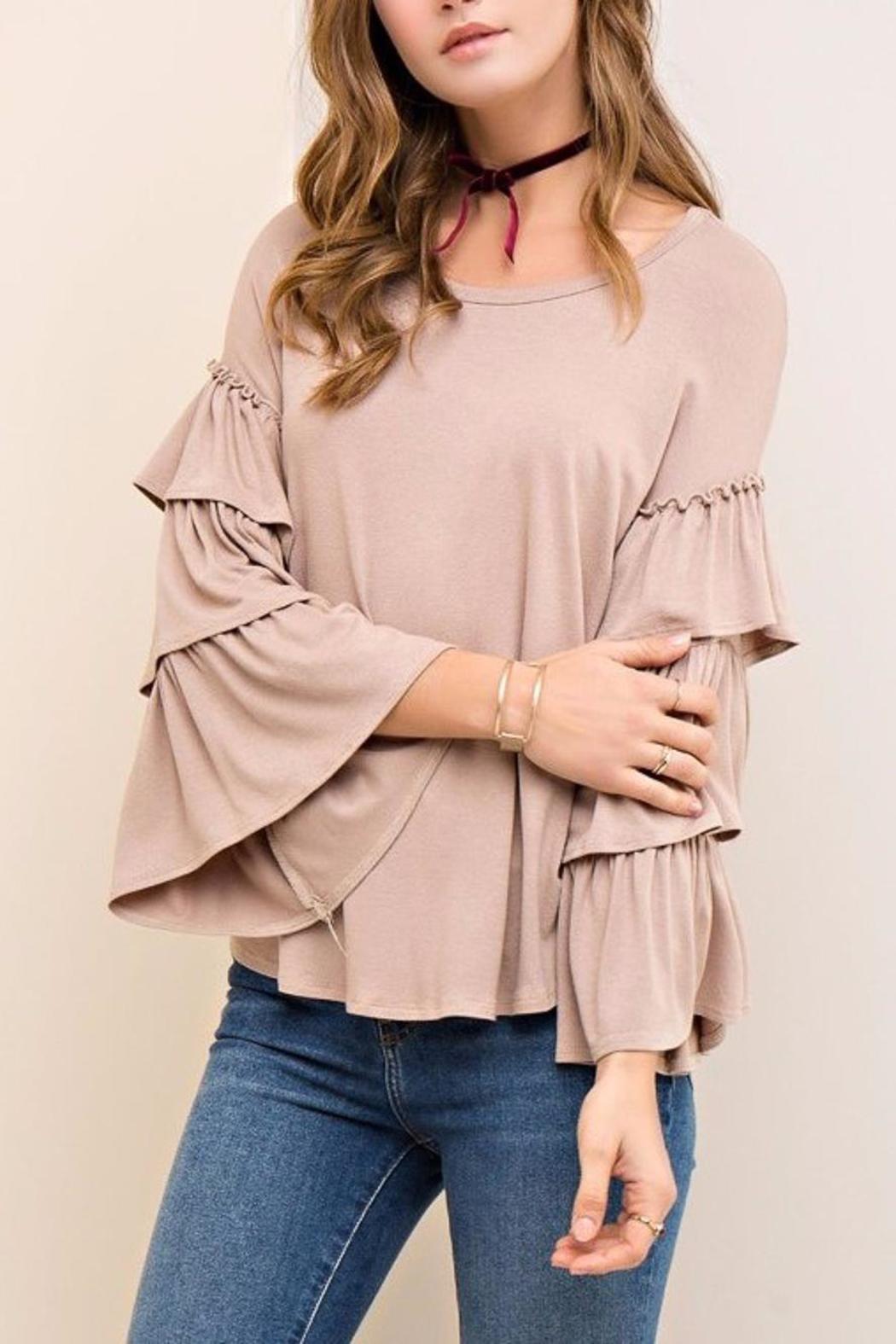 People Outfitter Mystic Ruffle Sleeves - Main Image