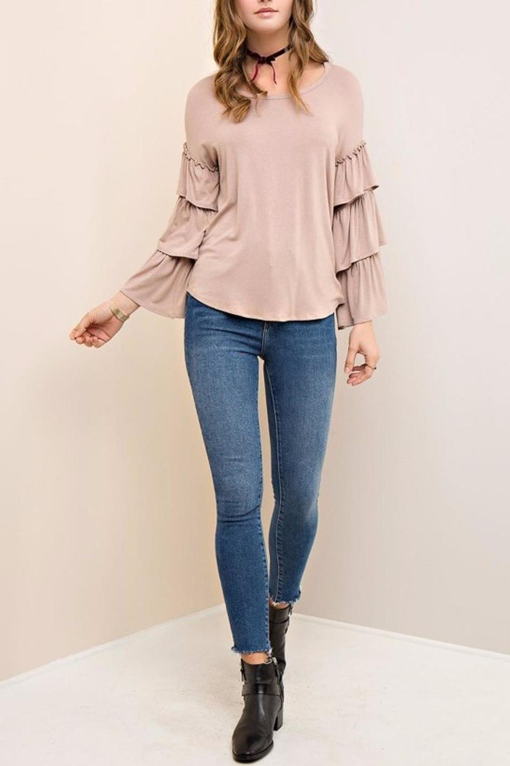 People Outfitter Mystic Ruffle Sleeves - Front Full Image