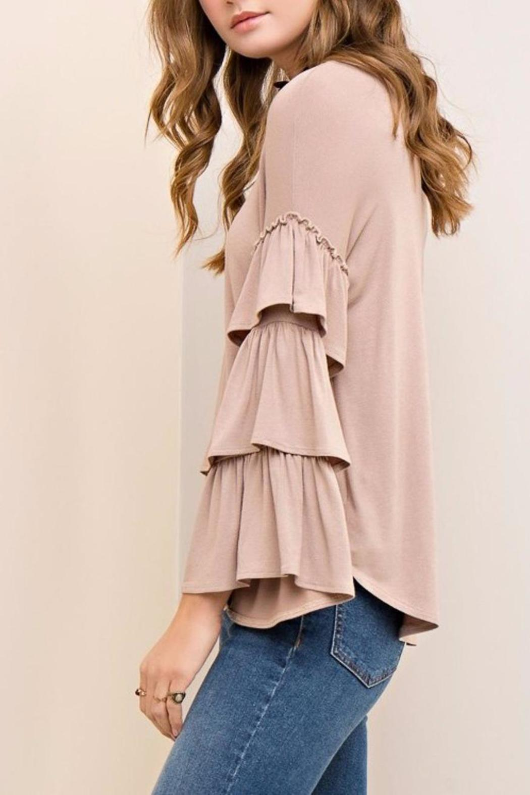 People Outfitter Mystic Ruffle Sleeves - Back Cropped Image