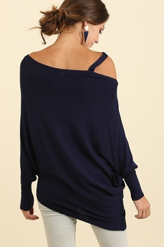 People Outfitter Navy Asymmetrical Knit Tunic Top - Alternate List Image