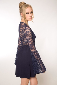 People Outfitter Navy Blue Lace Mini Dress - Alternate List Image