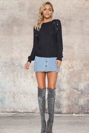 People Outfitter Navy Fine Knit Sweater - Product Mini Image