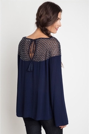 People Outfitter Navy Lace Top - Product Mini Image