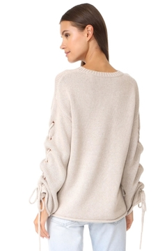 People Outfitter Oatmeal Lace Up Sweater - Alternate List Image