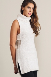 People Outfitter Oatmeal Turtleneck  Sweater Vest - Product Mini Image