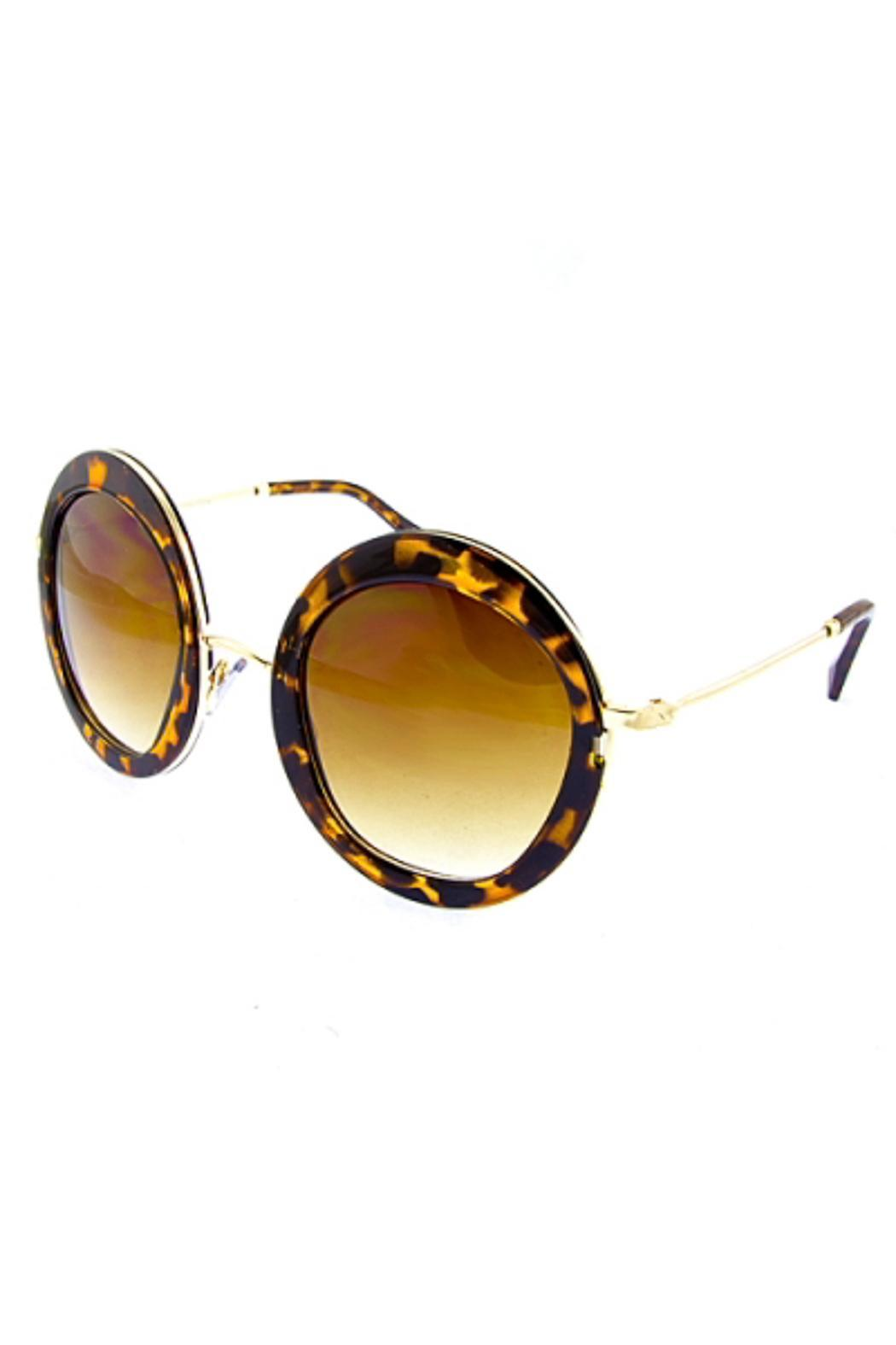 People Outfitter Ocean Round Sunnies - Front Cropped Image