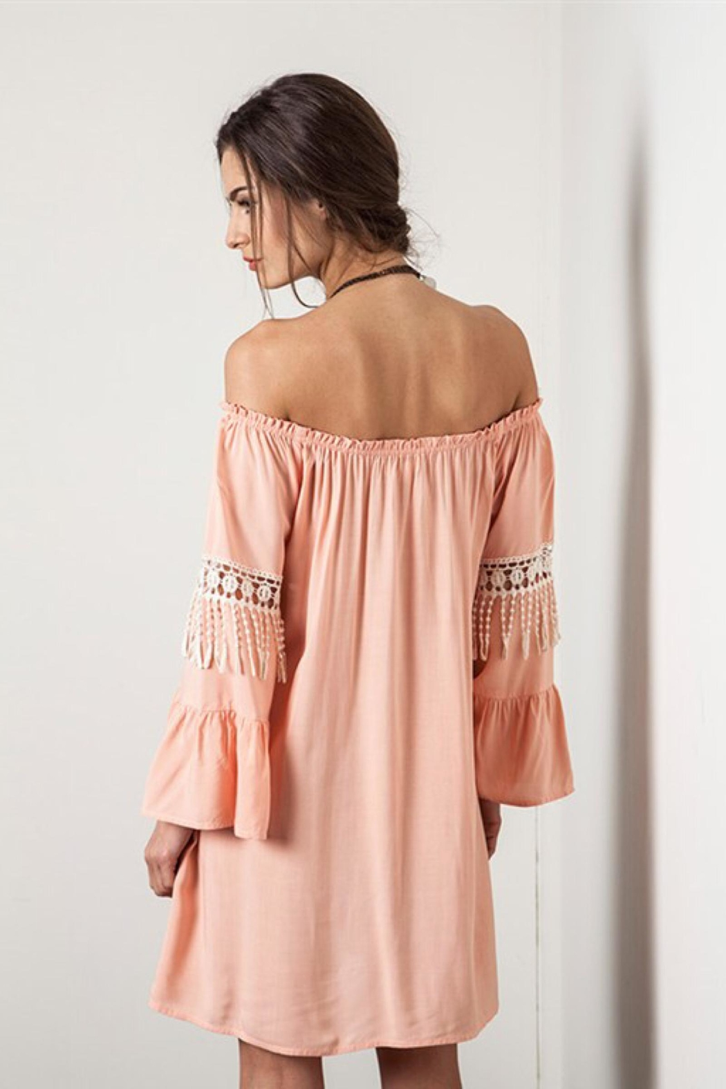 People Outfitter Off -Shoulder  Coral Dress - Front Full Image