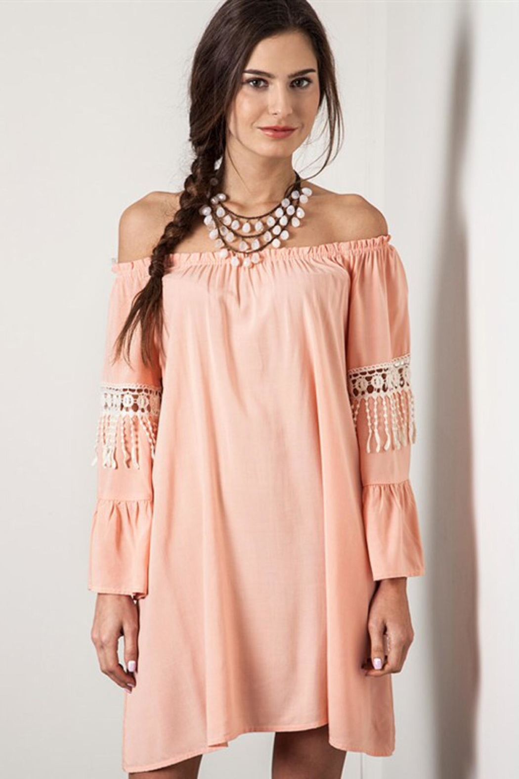 People Outfitter Off -Shoulder  Coral Dress - Main Image