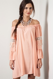 People Outfitter Off -Shoulder  Coral Dress - Product Mini Image