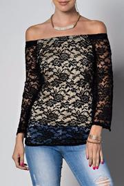 People Outfitter Off Shoulder Lace Top - Product Mini Image