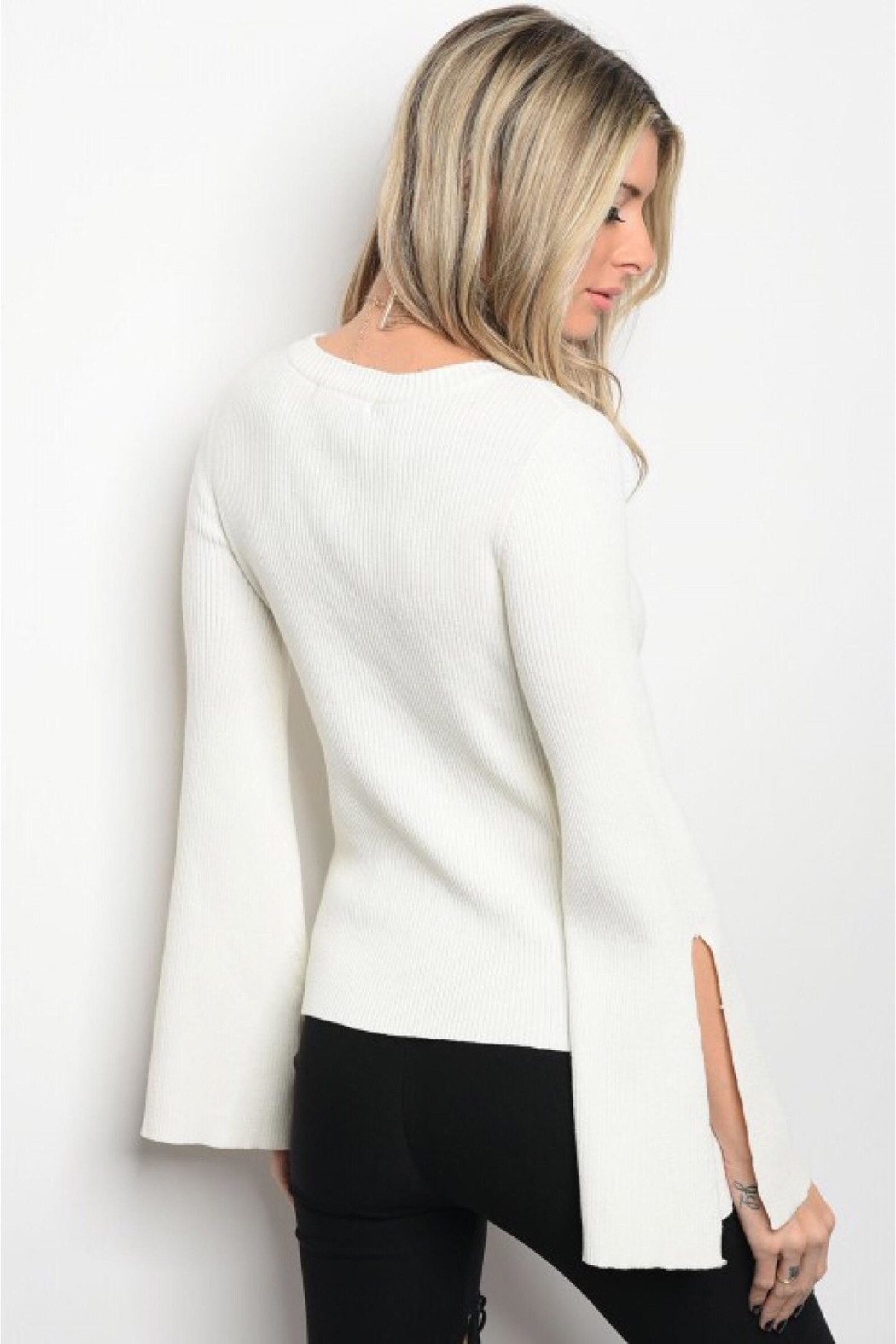 People Outfitter Off-White Bell Sleeves Sweater - Main Image