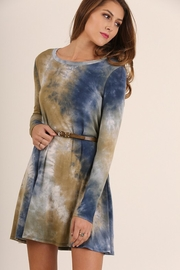 People Outfitter Olive Blue Dress - Product Mini Image