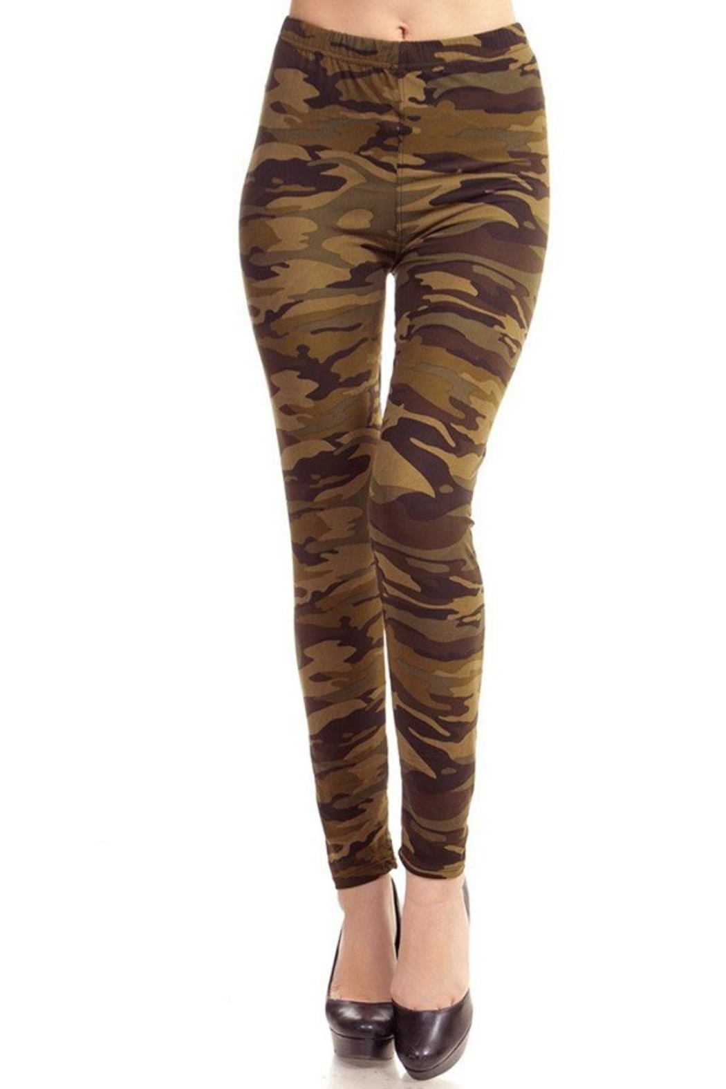 People Outfitter Olive Camouflage Legging - Main Image