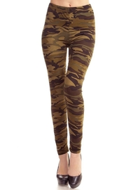 People Outfitter Olive Camouflage Legging - Front cropped