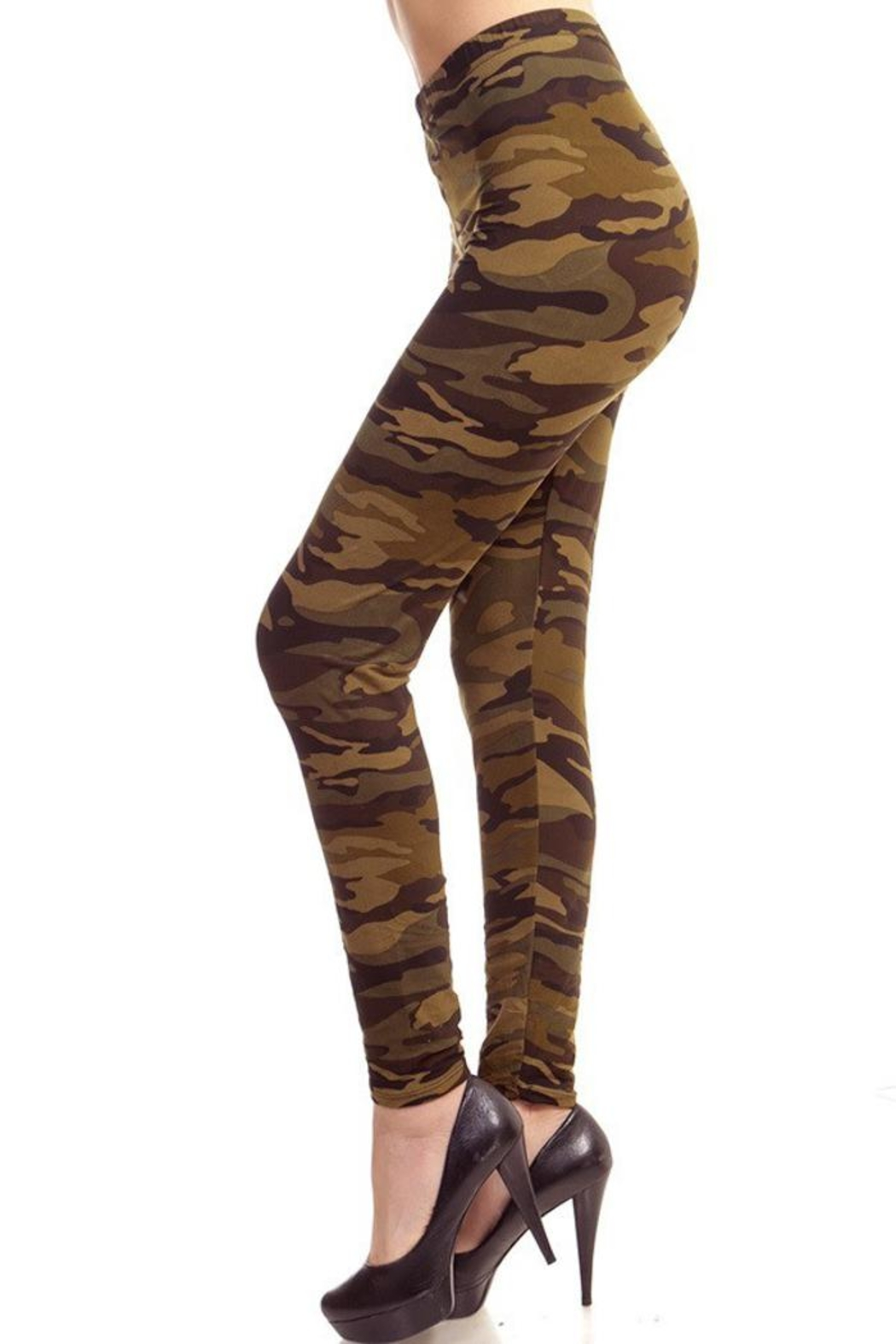 People Outfitter Olive Camouflage Legging - Front Full Image