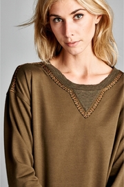 People Outfitter Olive Green Sweatshirt - Product Mini Image