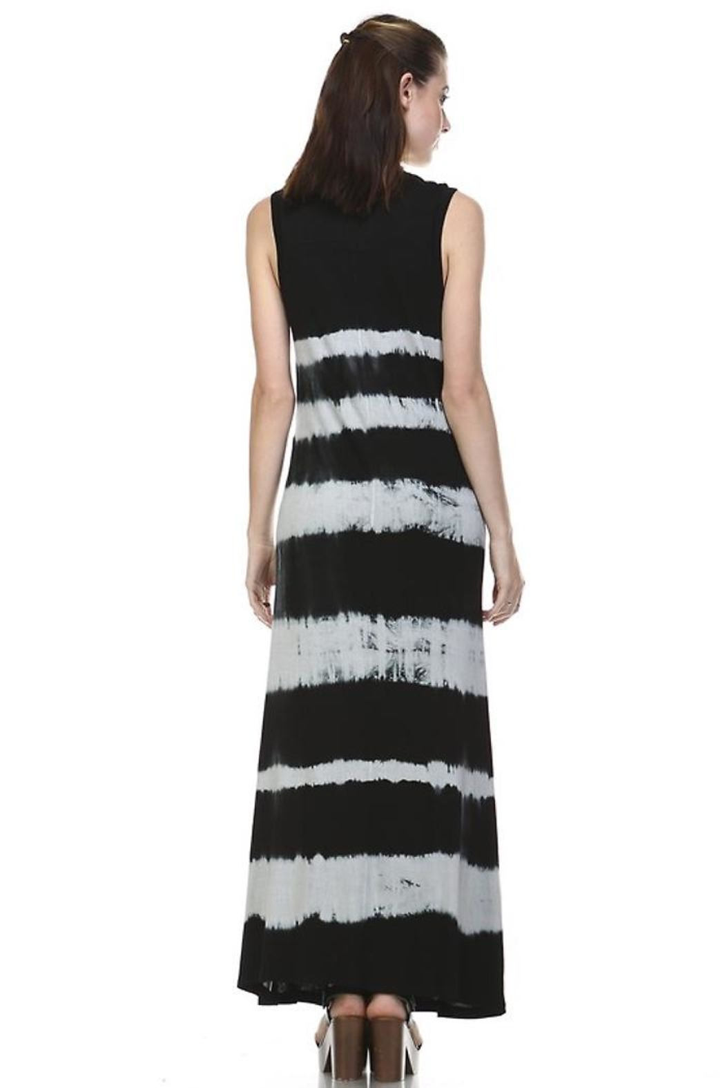 People Outfitter Ombre Maxi Dress - Back Cropped Image