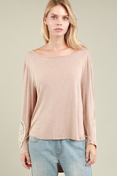 People Outfitter Open Back Stonewashed Top - Alternate List Image